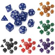 10pc/Set TRPG Games Gaming Dices D4-D30 Multi-sided Dices 6Color