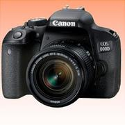 New Canon EOS 800D Kit with 18-55mm IS STM Digital Camera Black (FREE INSURANCE + 1 YEAR AUSTRALIAN WARRANTY)