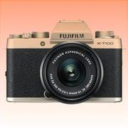 New Fujifilm X-T100 Mirrorless 24MP (15-45mm) Digital Camera Champagne Gold (FREE INSURANCE + 1 YEAR AUSTRALIAN WARRANTY)