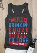 'Merica Drinkin' Booze Refusin' To Lose Tank