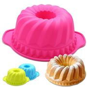 Round Hollow Binaural Food Grade Silicone Cake Mold Baking Tools Gear Basin