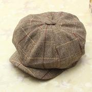 Men Women Vintage Tweed Cap Newsboy Golf Driving Flat Cabbie Hat