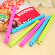 6Pcs Candy Color Sealing Clip Food Bag Snack Closure Clip Keep Fresh Kitchen Outdoor Helper