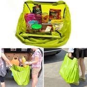 Reusable Supermarket Trolley Shopping Travel Bag Grocery Lime Grab Clip-To-Cart
