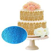 3D Silicone Blooming Lotus Lace Mat Pad Embossed Flower Lace Cake Fondant Mold