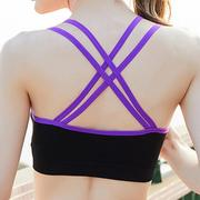Sexy Cross-criss Back Wireless Breathable Gather Sports Yoga Bra