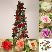 Artificial Flowers Rose Garland Silk Flowers Vine Fake Leaf Party Garden Wedding Home Decor