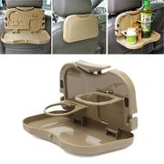 Food Meal Drink Tray Foldable Stand  Car Auto Desk Table Holder Water Cup Dining Storage Container