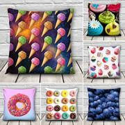3D Sweet Food Patterns Throw Pillow Case