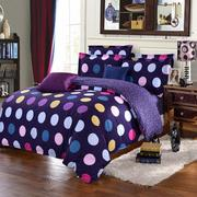 3 Or 4pcs Polyester Fiber Dot Printing Bedding Sets Pillowcase Quilt Duvet Cover Single Twin Queen