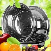 Stainless Steel Vegetable Fruit Washing Colander Wash Bowl Houseware Kitchen Sink Basket