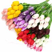 10pcs/Pack Artificial Tulip Flowers Single Long Stem Bouquet Flower Wedding Party Decoration