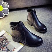 Ladies Ankle High Warm Round Toe Side Zipper Boots