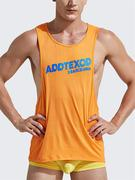 Mens Sexy Fitness Training Sleeveless Vest Letters Printing Loose Fit Sport Cotton Tank Tops