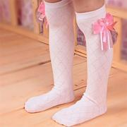 Girls Kids Lovely Toddler Bow Knee High Socks Colours Silk Bow 3 to 10 years