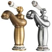 Contemporary Concise Bathroom Faucet Antique Brass Single Handle Water Taps