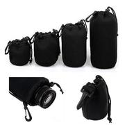 4Pcs Soft Neoprene S M L XL Lens Pouch Bag