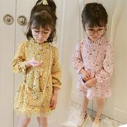 Girls Kids Ruffles Long Sleeve Dresses