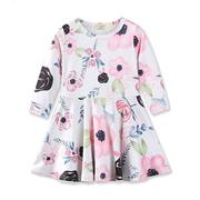 Girls Floral Long Sleeve Dresses