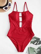 ZAFUL Cutout Strappy One-piece Swimsuit