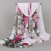 Women's Holiday Chiffon Rectangle Scarf - Floral Print / Spring / Summer / Fall