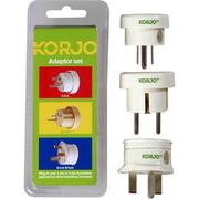 Korjo Adapter Set - Europe, Great Britain & USA