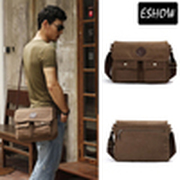 Eshow Mens messenger bags for men canvas men shoulder bag vintage crossbody bag for men travel bag BFK010411