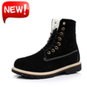KUADU MEN WOMENS FUR LINED WINTER BOOTS MEN HIGH TOP ANKLE SHOE MEN BOOT GRIP SOLE TRAINER FOOTWEAR